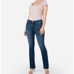 Express bootcut mid rise jeans size 18 Long